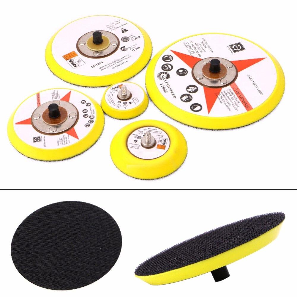 50/75/100/125/150MM Polishing Sander Backer Plate Napping Hook Loop Sanding Disc Pad G08 Whosale&DropShip