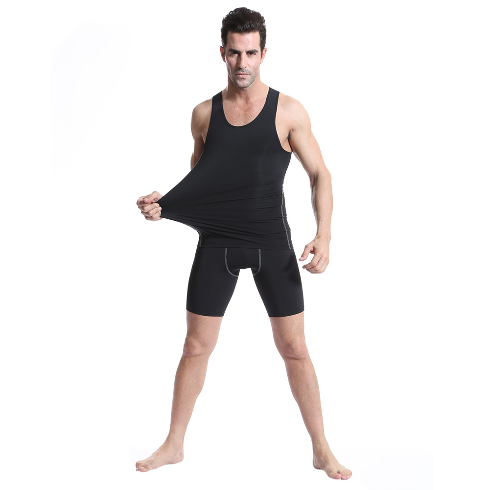 3pcs/Pack Summer men   Tank     Top   Solid color High Quality   Tank   clothing Bodybuilding vest Compression Under Base Layer