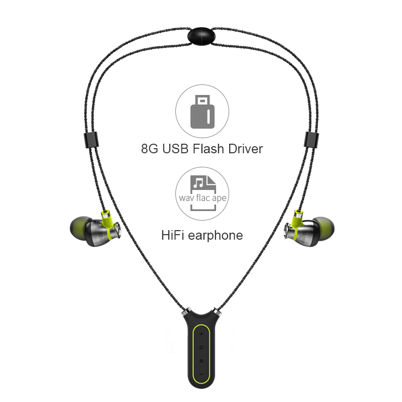 HiFi Wireless Headphone Magnetic Necklace Bluetooth Headset 8G Flash Recording Pen Earphone Noise Cancelling Sports Earbuds wireless bluetooth sport earphone noise cancelling sweatproof earbuds magnetic earphones