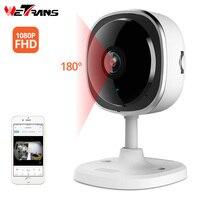Wetrans câmera ip wifi 1080 p mini câmera de segurança em casa sem fio p2p fisheye cartão sd panorâmica 180 grande angular cctv camara interior Câmeras de vigilância     -