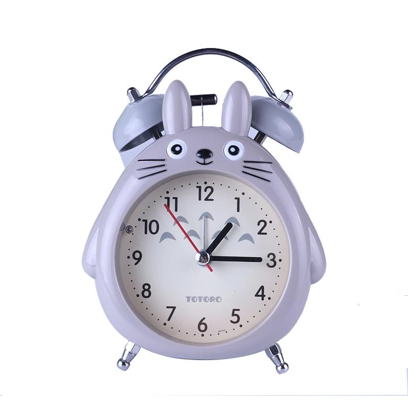 Totoro Quartz Table Clock Cartoon Timer Snooze Alarm Clock Home Children Alarm Clock Anime LED Light Mute Silent Digital Clock