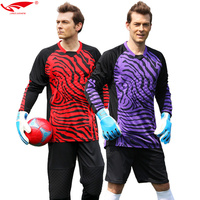 Men Goalkeeper Uniforms Goalkeeper Kit Long Sleeve High Quality Soccer Goalkeeper Jerseys Set For Adult