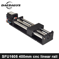 CNC Threaded Rod Linear Guide Rail Nema23 Motor 400MM Ball Screw Ball Screw Linear Module For 3d Printer Parts Robotic Arm Kit