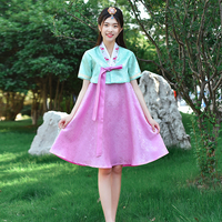 Female Korean Traditional Costume Minority Folk Ancient Asian Hanbok Dress Elegant Court Dance Wedding Embroidered Outfit