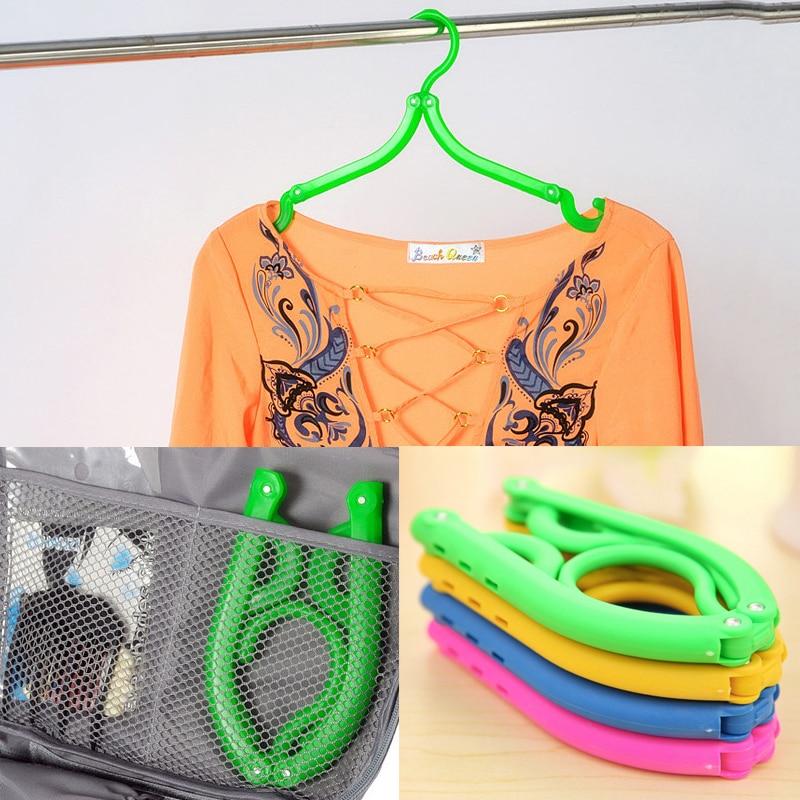 2016 새로운 5 개 / 몫 배 플라스틱 후크 배 걸이 옷 못 세탁 제품 여행 공간 절약 옷장 천 걸이 접이식