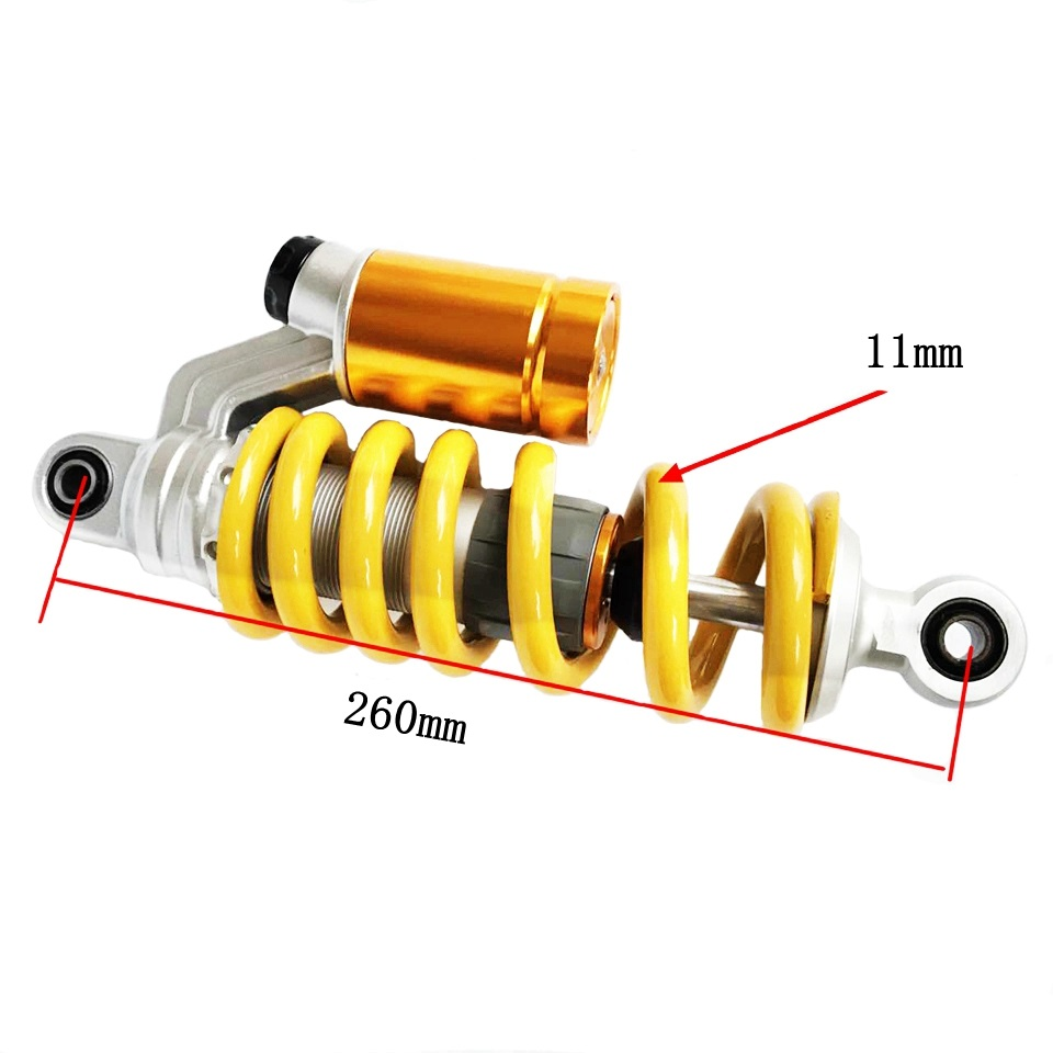 Universal 260mm Motorcycle Rear Shock Absorbers 1 pcs Fit Scooter Dirt bikes ATV&Quad For Honda MSX-125 Yamaha Suzuki Kawasaki 320mm motorcycle fork rear nitrogen shock absorber for bws100 bws125 rd250 350 pit atv scooter motorbike colorful