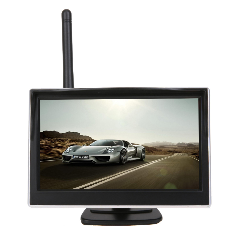 Universal 5 Inch TFT WiFi  Display Monitor LCD Car  Rear View Backup Reverse Monitor Screen Digital Panel Color Car video player diysecur 4pin dc12v 24v 7 inch 4 split quad lcd screen display rear view video security monitor for car truck bus cctv camera
