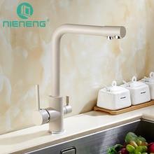 Nieneng распылитель воды смеситель для кухни 3 Way фильтр для воды холодной и горячей воды смесителя двойной ручкой инструменты аксессуары ICD60367