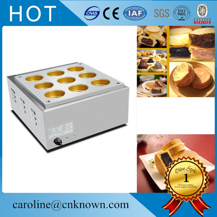 Machine à gâteau de haricot rouge électrique 9 trous/équipement de cuisson