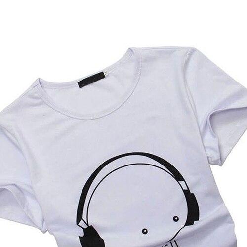Arrival Men Summer Fashion Short Sleeve Cartoon Print T-Shirt Round Neck Slim Fit Top Fast Shipping 2
