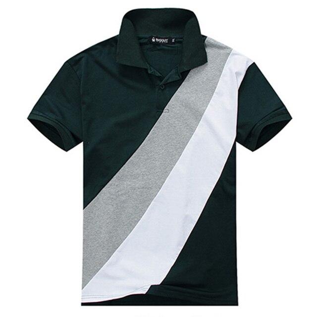 PLUS SIZE  3XL-7XL Men Solid Polo Shirt Gradient Color Green and Black Men Short Sleeve Loose Cotton Polos 6XL, 7XL