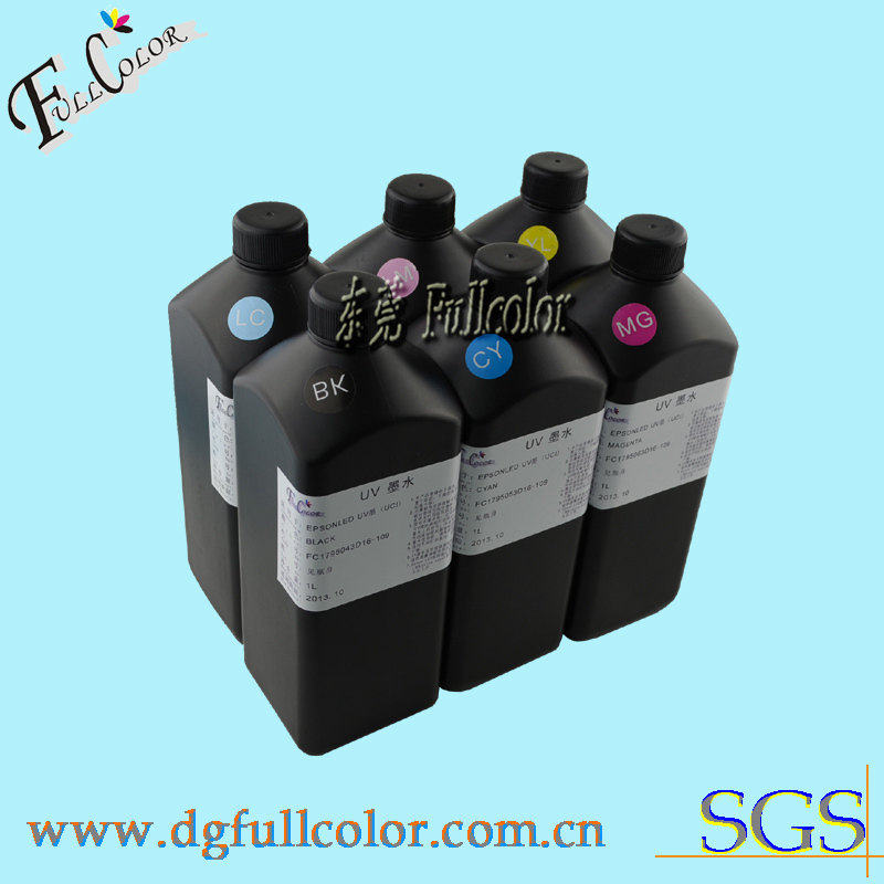 ФОТО  Free shipping LED UV ink for epson 7880 9880  flatbed printer UV curable ink