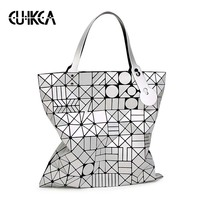CUIKCA lead the new fashion matte drawing woman bao Bags large capacity Ladies Messenger bags folding luminous bag