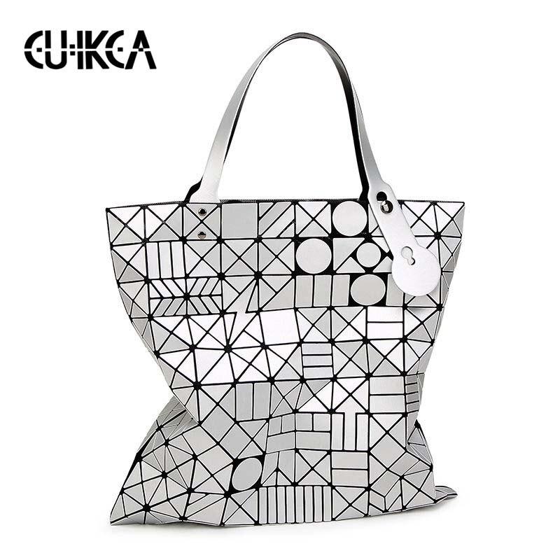 CUIKCA mène la nouvelle mode matte dessin femme bao sacs grande capacité dames Messenger sacs pliant sac lumineux