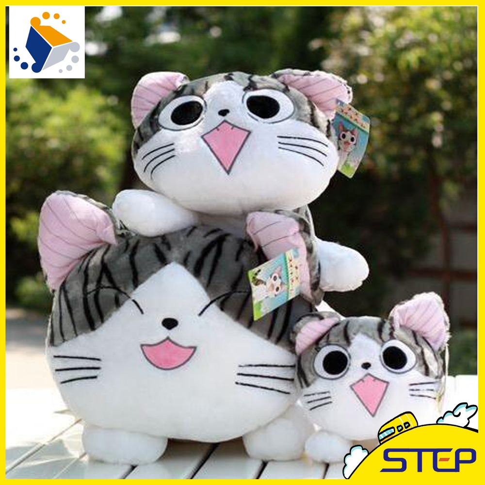 Cute Animals For Sale - 2016 hot sale 20cm cartoon cheese cat plush toy 4 expression cute kitty stuffed animal toys baby toys gifts for kids st091