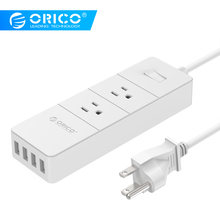 ORICO IPC-2A4U-US-WH USB Travel Power Strip Intelligente Opladen IC voor Uw Telefoon en Andere USB Apparaten (US Plug alleen) -wit(China)