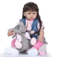 Soft Silicone Reborn Girl Doll for Girls 3 7 Years Old Baby Dolls With Clothes Baby Accompany Toy lol doll