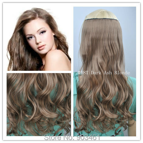 Top quality kanekalon synthetic hair 18t dark ash blonde wavy 20 top quality kanekalon synthetic hair 18t dark ash blonde wavy 2050cm2255cm 5 clips 1pc clip in hair extensions for beauty on aliexpress alibaba pmusecretfo Images
