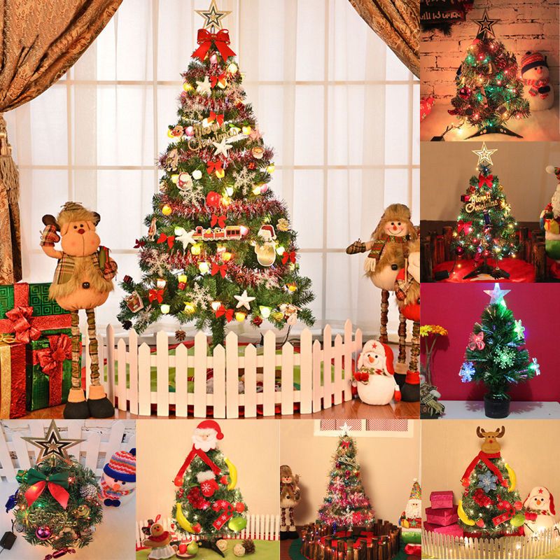 60CM Artificial Christmas Tree New Year Christmas Decorations LED Multicolor Lights Navidad Decorations For Portland Fighters