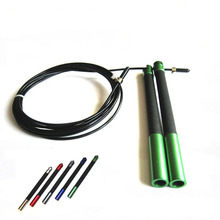 Speed Jump Rope Ball Bearing Metal Handle Sport Skipping,Stainless Steel Cable Crossfit Fitness Equipment