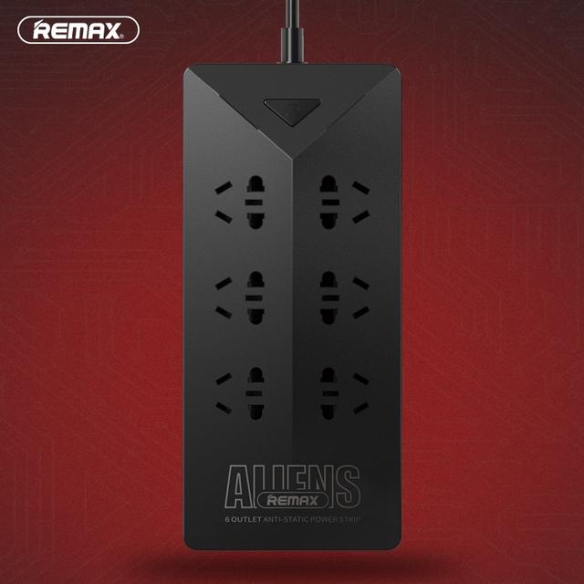 Remax ru-s4 inteligente 4.2a power strip socket eléctrico con 6 salidas de enchufe 5 usb puerto de carga del adaptador del zócalo