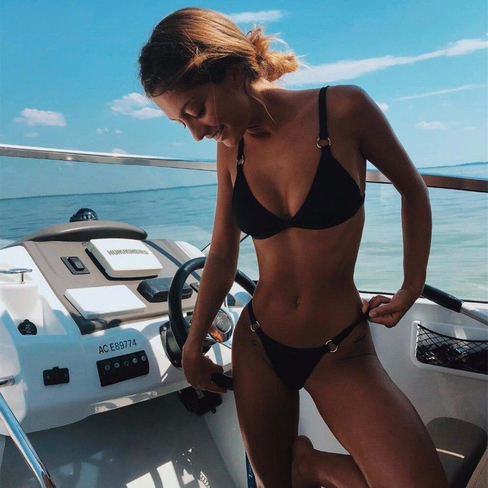 black bikini push up micro brazilian bikini set 2019 sexy swimsuit women solid swimwear high cut black bikini push up micro brazilian bikini set 2019 sexy swimsuit women solid swimwear high cut bathing suit female beach wear