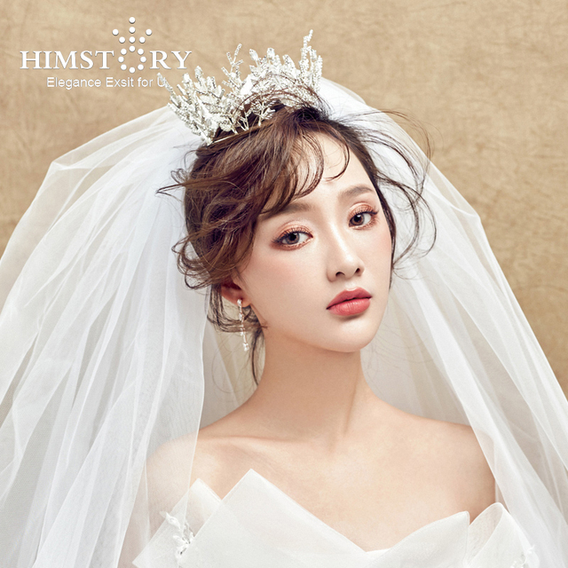 Wedding Hairstyle Crown: HIMSTORY Bridal Princess Branch Retro Romantic Full Circle