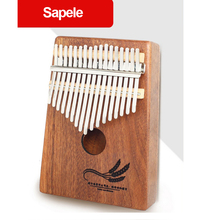 17 Keys Kalimba Thumb Piano Wood Sapele Solid Wood Body Musical Instrument