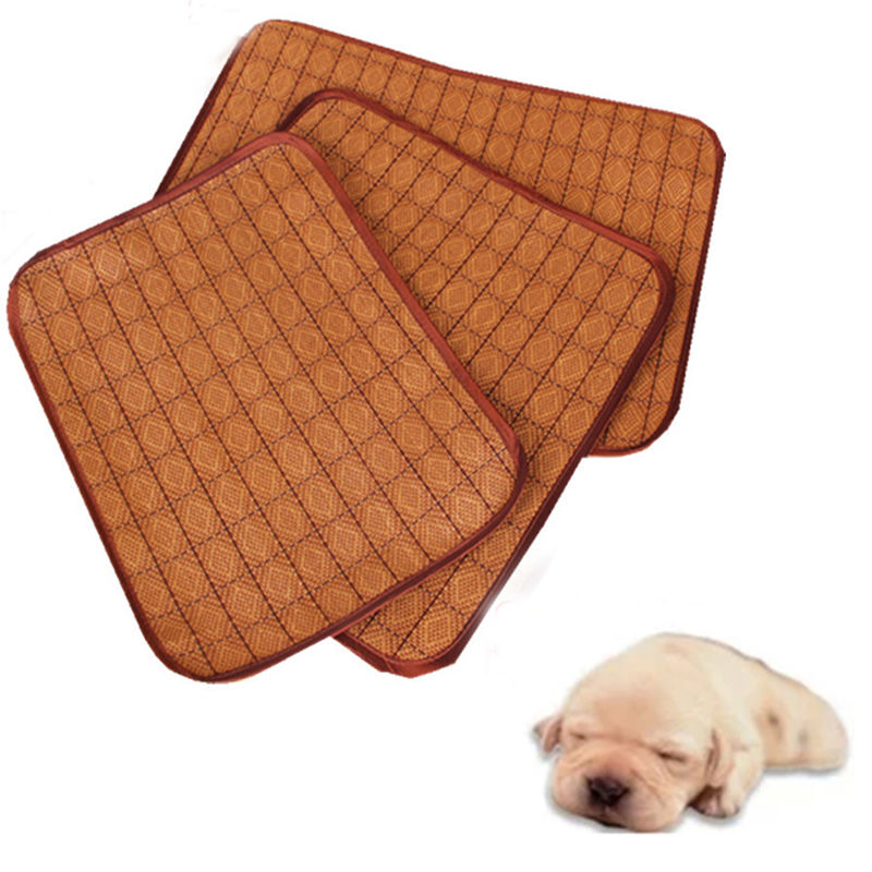 new dog cat cooling pad mat multiuse seat summer pet cool sleeping bamboo bed
