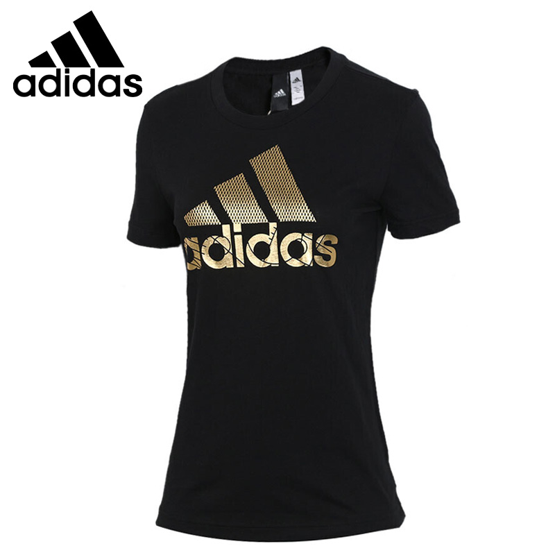 Original New Arrival Adidas GRAPHICS BOS Foil Tee Women's T-shirts short sleeve Sportswear