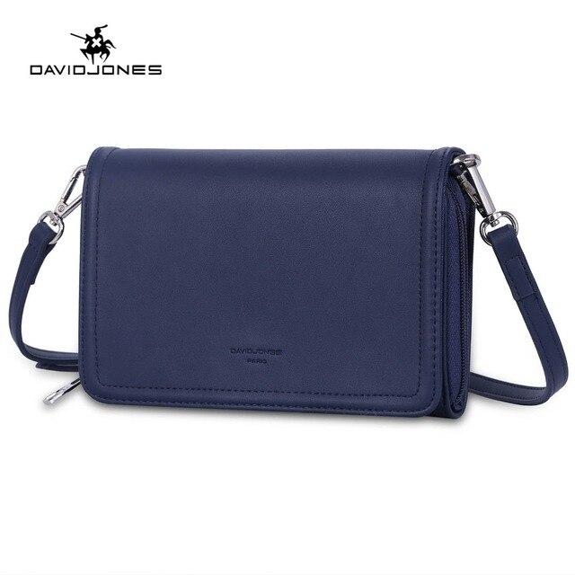 a357cdeb865e DAVIDJONES women messenger bags pu leather female shoulder bags small lady  solid handbag girl brand crossbody bag drop shipping