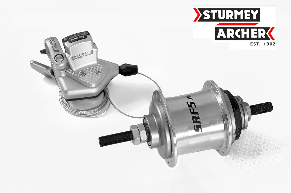 Sturmey archer SRF5(W) Internally Geared 5 speeds bike bicycle rear Hub 28H 110mm with shifter lever set fit for folding bike sturmey archer sturmey archer classic trigger shift cable 1420mm