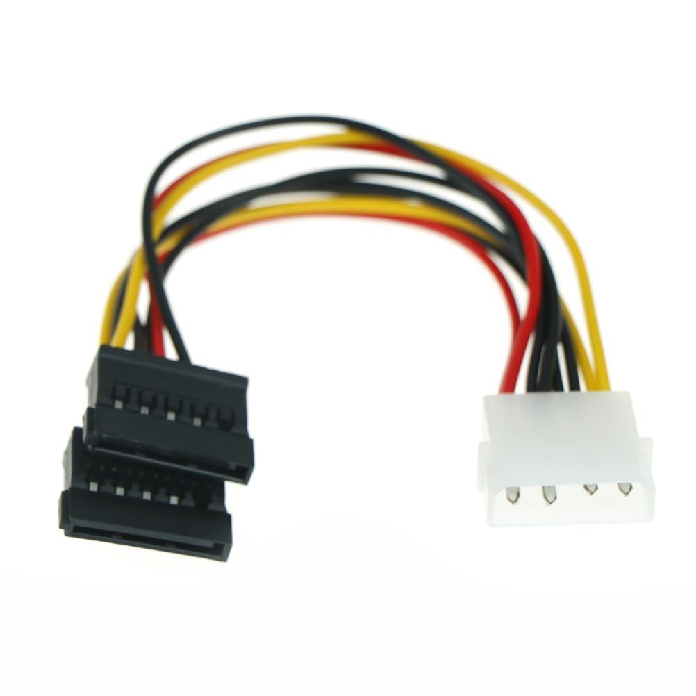 15 Pin  M Molex to 2 SATA Dual Power Y Splitter Adaptor Cable Lead 2 Way 4 Pin