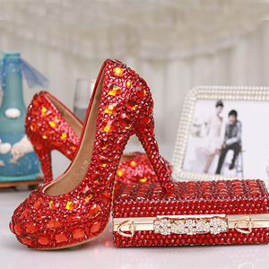 Luxury High Heels Red Crystal