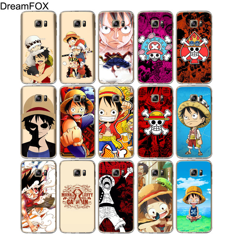 DREAMFOX M119 One Piece Monkey Luffy Soft TPU Silicone Cover Case For Samsung Galaxy S5 S6 S7 S8 S9 S10 S10E Lite Edge Plus in Fitted Cases from Cellphones Telecommunications
