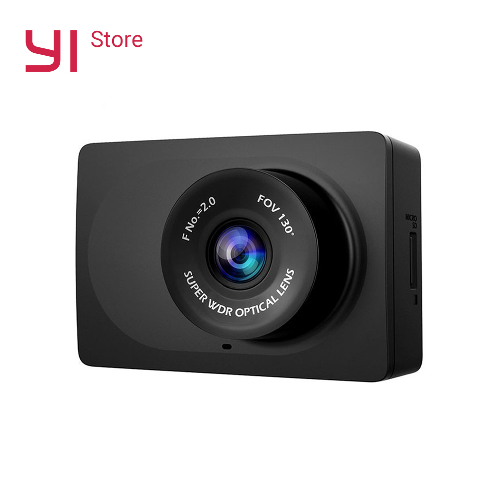 YI Compact Camera  Car Recorder 1080p Full HD Cam Dash board with 2.7 inch LCD Screen 130 WDR Lens G-Sensor Night Vision Black(China)