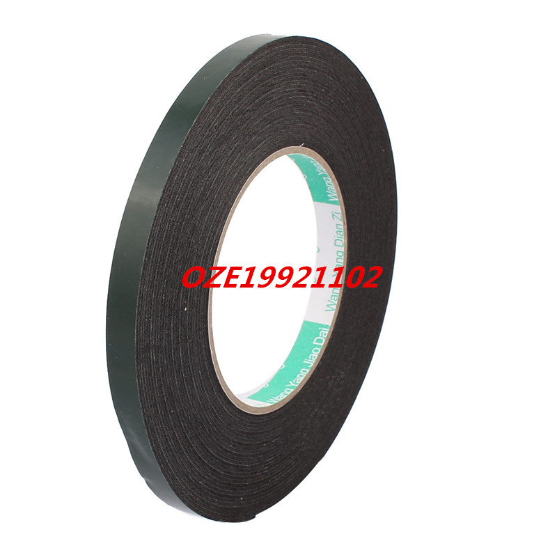 5 Pcs 10mmx10mm Dual Sided Self Adhesive Shockproof Sponge Foam Tape 1M Black 2pcs 2 5x 1cm single sided self adhesive shockproof sponge foam tape 2m length