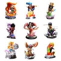 One Piece Toys Zoro Luffy Sanji Nami Tony Chopper Robin Nico Usopp Franky Brook Burukku Action Figure Toys Juguetes Dolls Anime