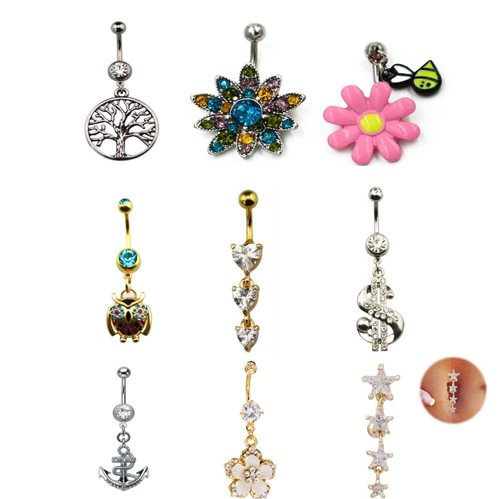 Bescheiden 1 Stück 316l Edelstahl Blume Bauchnabel Ring Nabel Piercing Für Sexy Frauen Modeschmuck 14g Körperschmuck Fabriken Und Minen Schuhe