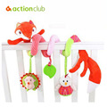 Baby Toys Educational Mobile Toys For Kids 0-24 Months Newborn Baby Confort Cot Beds Rattle Hands Eyes Training Fox Stroller Toy