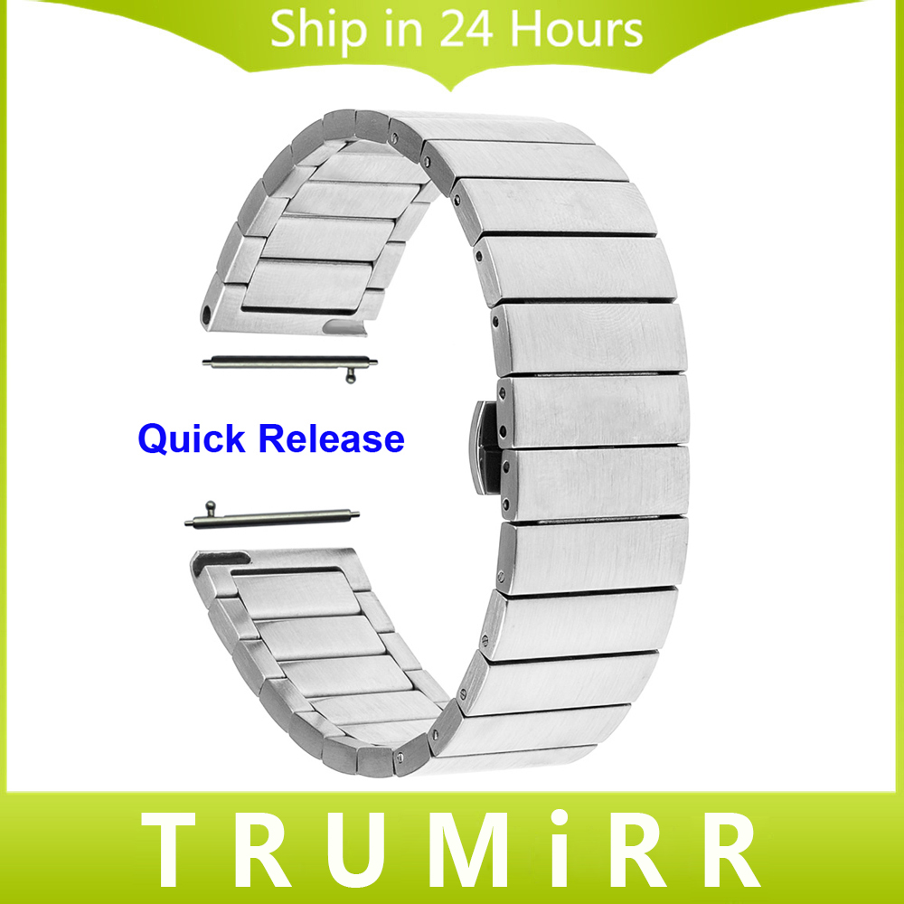 Quick Release Watchband 16mm 18mm 20mm 22mm for Omega Men Women Watch Band Stainless Steel Strap Butterfly Buckle Belt Bracelet 20mm 22mm stainless steel watchband quick release strap for tissot 1853 t035 t097 watch band butterfly clasp belt wrist bracelet