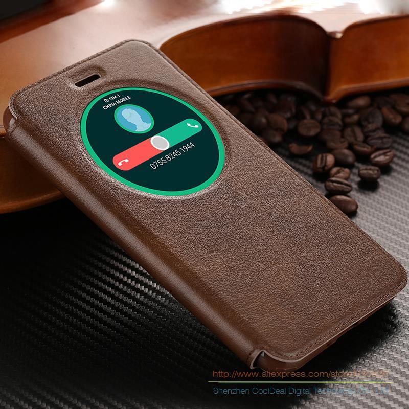 Ultra Mince En Cuir PU Flip Stand Cas de Couverture Pour Asus Zenfone 3 ZE552KL 5.5 téléphone Cas & View Fenêtre Pour Zenfone3 ZE520KL 5.2''