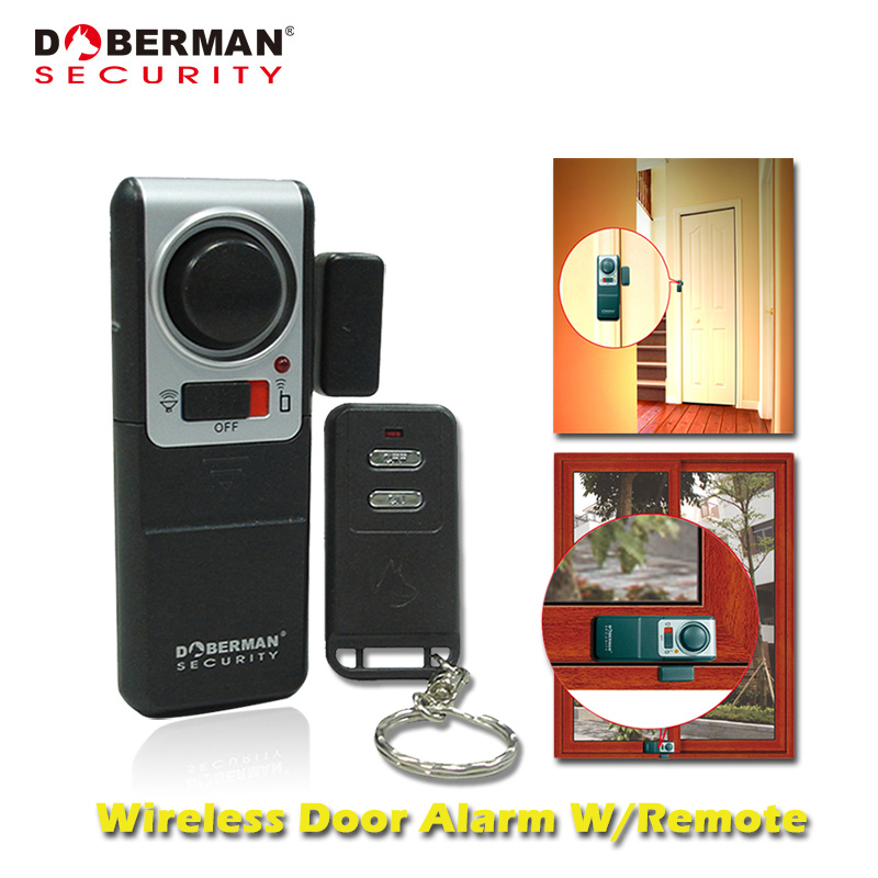 Doberman Security Home Security System Alarm With One Wireless Remote Control Alarm for Home Magnetic Door Sensor Detector forecum 4f wireless remote control alarm system door chime kit water resistant transmitter 2 x receiver for home security