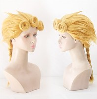 Bizarre Adventure Giorno Giovanna 2018 New Anime Cosplay JoJo's Golden Wig Cosplay Styled Hair Halloween GIOGIO Role Play