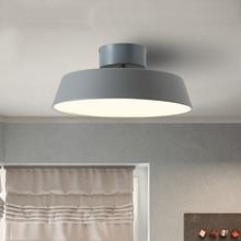 Modern nordic minimalist ceiling light creative lron LED macaron lamp for living room bedroom office indoor lights e27
