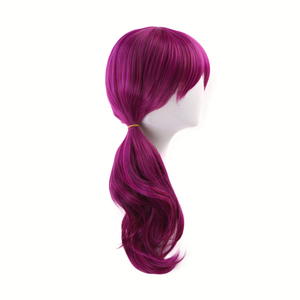 Image 5 - Agonys Embrace K/DA Evelynn Reddish Violet Long Wig Cosplay Costume KDA Women Heat Resistant Synthetic Hair Wigs