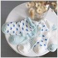 5 Pares de Algodón Suave Bebé Recién Nacido Calcetines Cortos Niñas y Niños Toddle Infantil Imprimir Dot Calcetines Estrella T0190