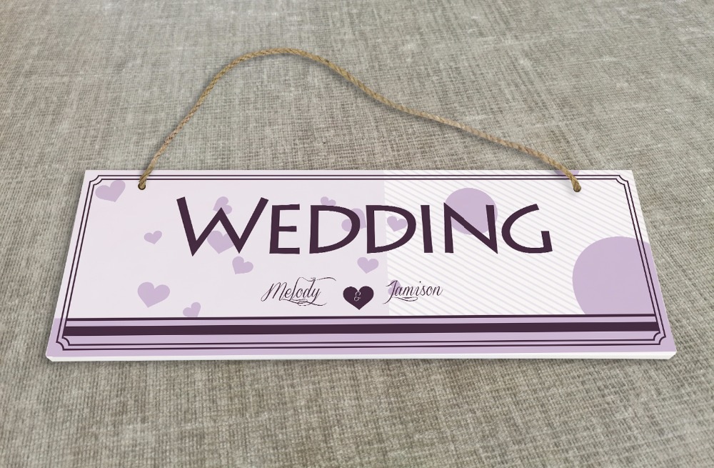 Personalized Outdoor Wedding Reception & Ceremony Decoration Directional Signs wedding sign board Lilac design SB016H