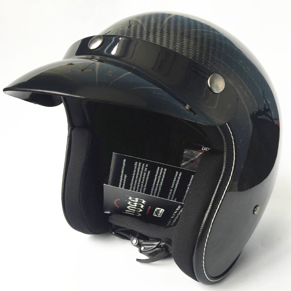 Motorcycle Carbon Fiber Helmet Motorbike Open Face Retro Vintage JET Helmets Motocross Capacete Moto Casco moto bicycle