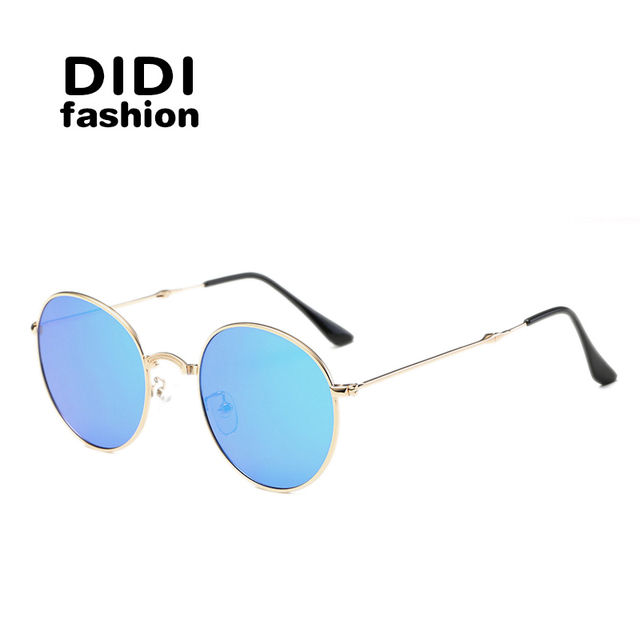 DIDI Vintage Round Polarized Sunglasses Men Women Folding Sun Glasses Mirror Coating Lentes Eyewear oculos gafas de sol H564
